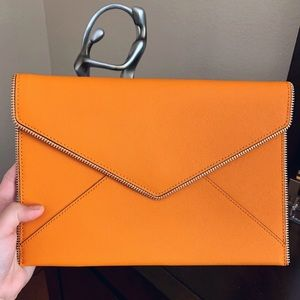 NWT Rebecca Minkoff Leo Clutch, Desert Orange